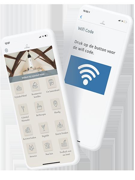 Wifi-code delen in een app